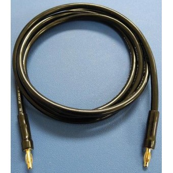 Ground Return Lead Banana-Banana, high current, 10AWG, 4ft long