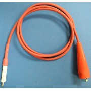 High Voltage Test Lead for MP over 7KV, Red, 4ft long