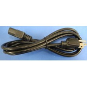 AC Power Cord for detachable cordset models, 18AWG, 6ft long
